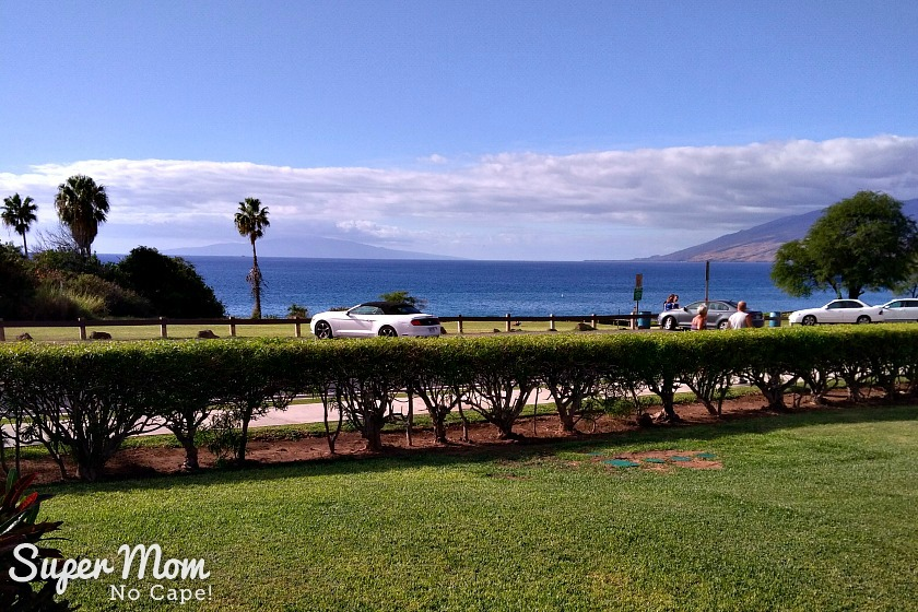 View from our condo in Maui