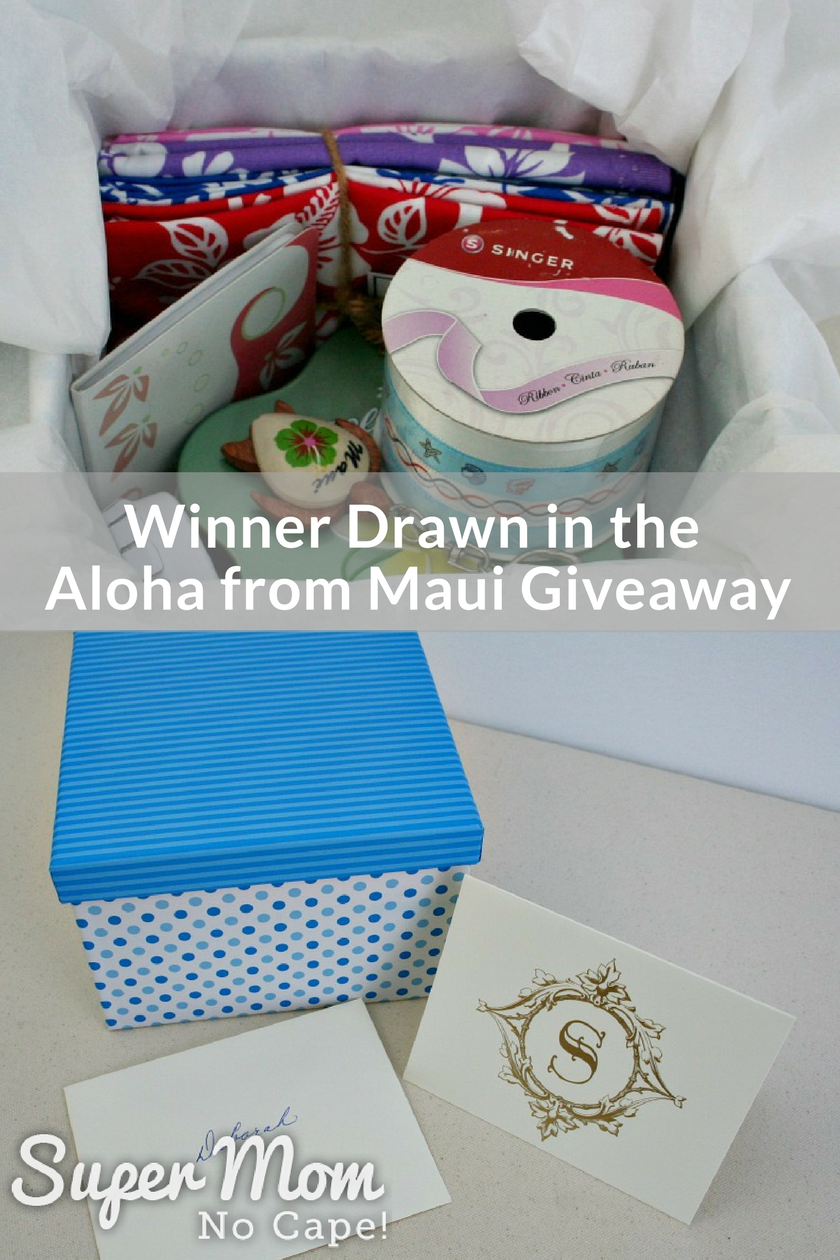 Collage photo of the prizes for the Aloha from Maui Giveaway