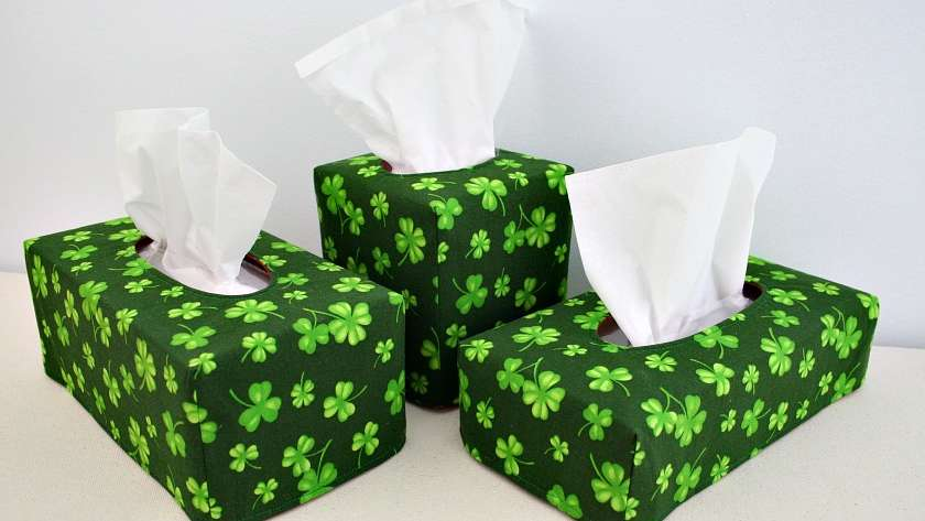 Tissue Box Covers Reversed for St. Patrick's Day