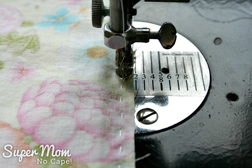Sew zipper using zipper foot