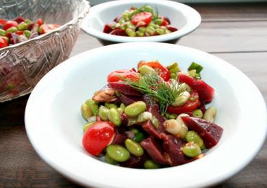 Beet and Edamame Salad