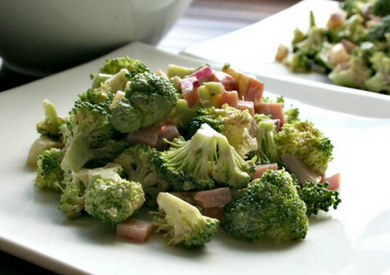 Broccoli Salad with Balsamic Mayo Dressing