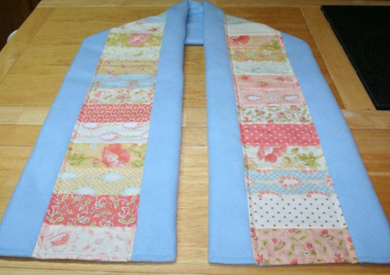 Patchwork Fleece Scarf