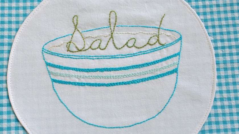Salad Bowl Embroidery Pattern