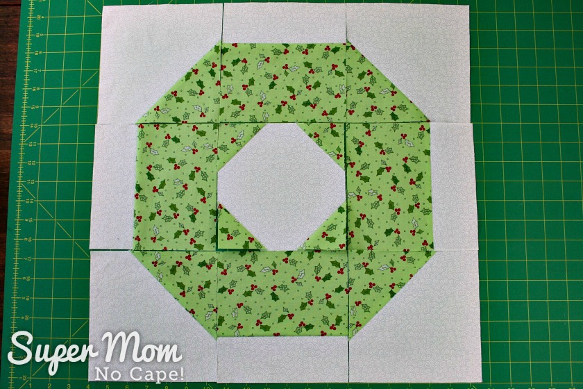 Layout for Christmas Wreath Block