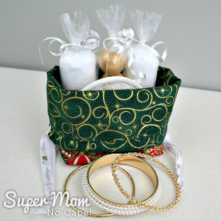 Christmas Drawstring Gift Bag with Spa Gifts