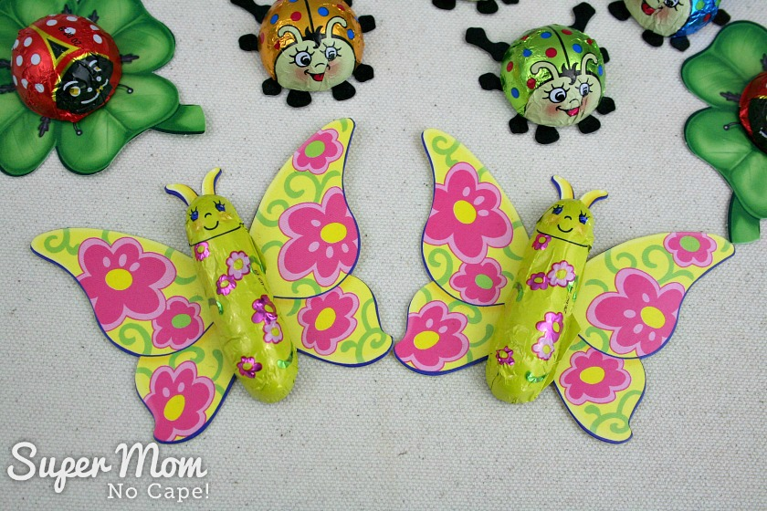 Foil butterfly chocolates