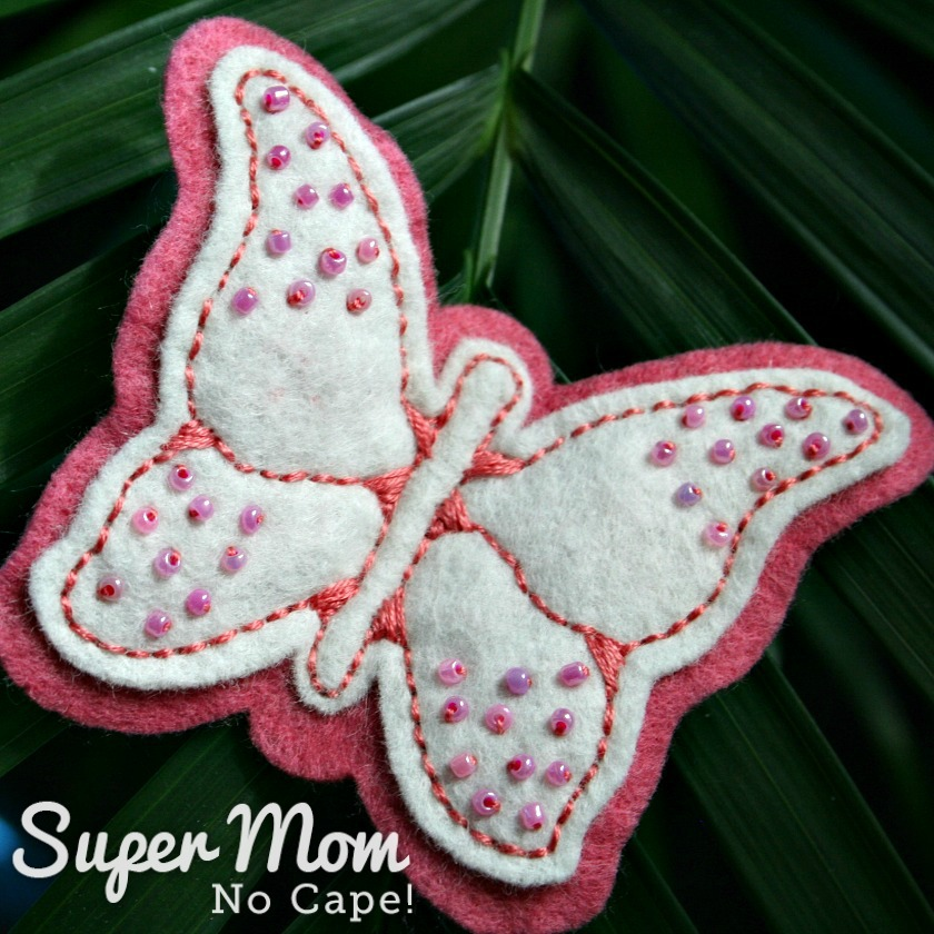 First Beaded Felt Butterfly