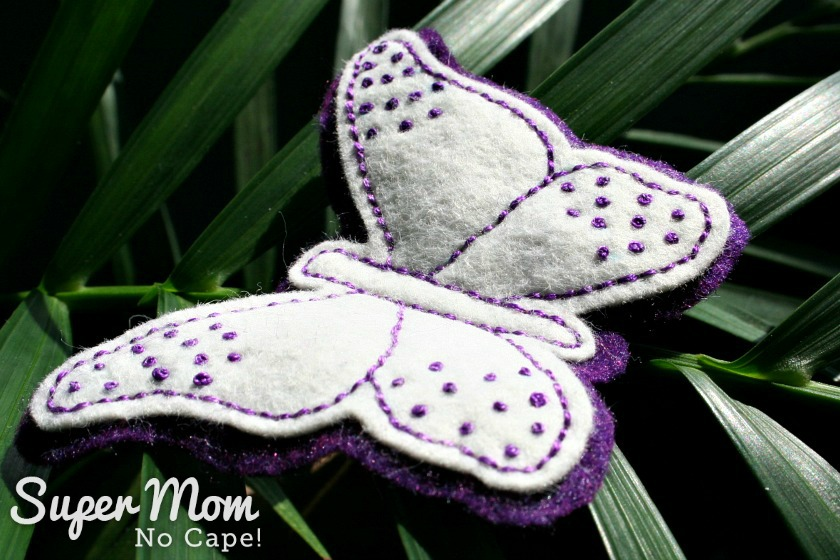 Second Felt Butterfly with French Knots