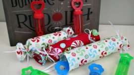 Bubble wands filler idea for Fabric Christmas Crackers