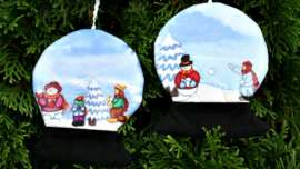 Snow Globes Tree Ornaments