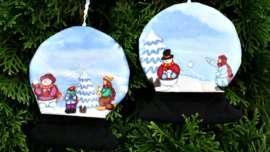Snow Globes Tree Ornaments
