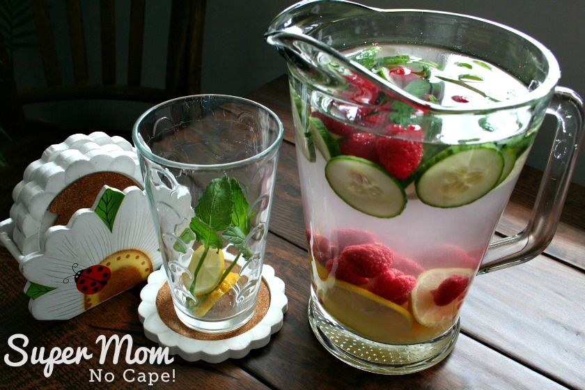 Summer Drink with Raspberries