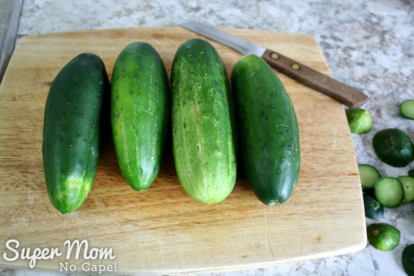 Cucumbers not used to make Refrigerator Pickles