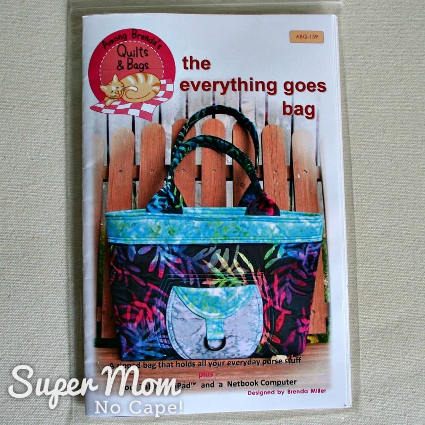Photo of the pattern for the Everything Goes Bag