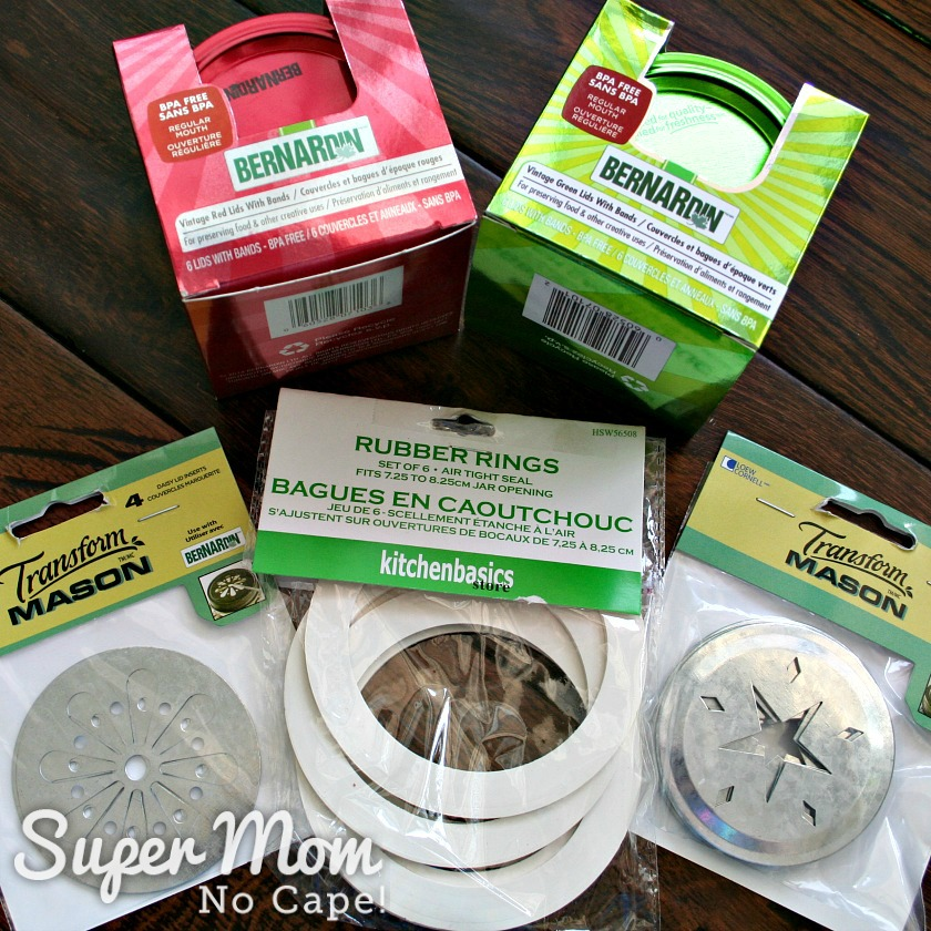 Mason jar lids and rubber rings