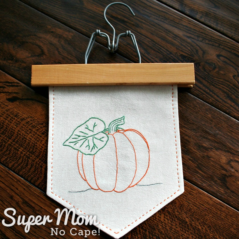 Pumpkin Banner with Wooden Pants Hanger