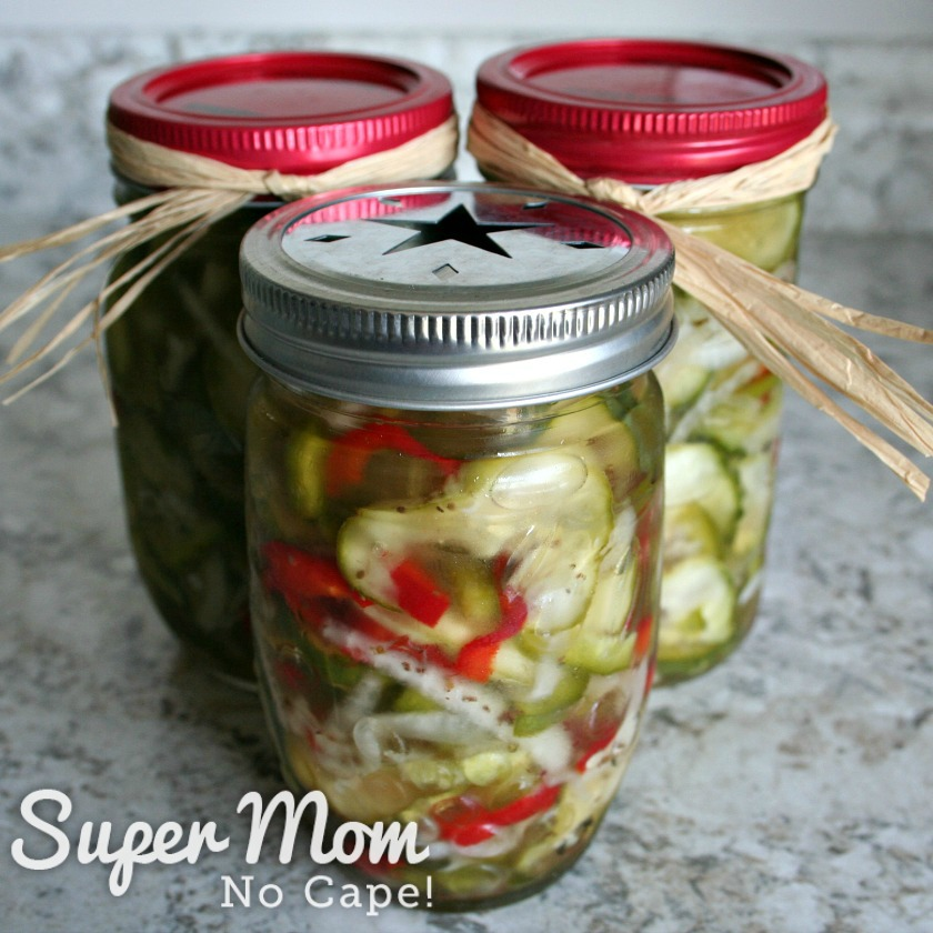 Refrigerator Pickles ready to gift for Christmas