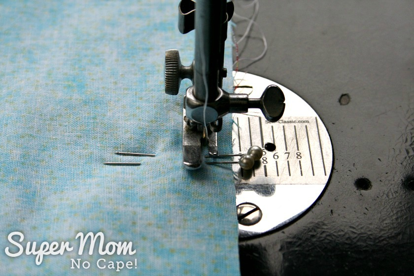 Sew the fabric book cover using quarter inch seam allowance