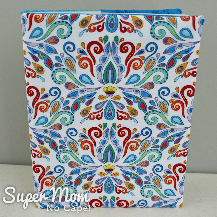 Angel fabric journal cover standing up table