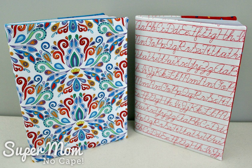 Angel fabric book cover and Alphabet fabric book cover