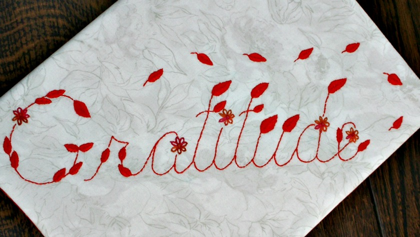 Gratitude Embroidery Pattern