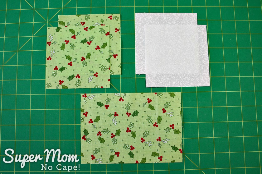 Fabric cut to make Hour Glass Candle Mat