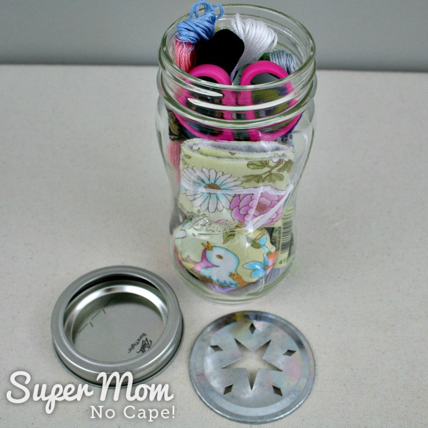 Second Mason Embroidery Kit jar filled