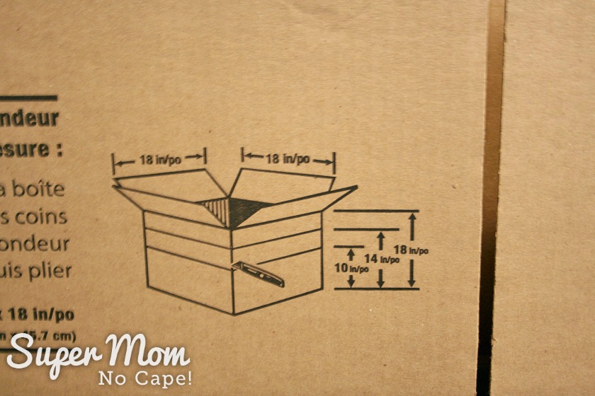 Photo diagram for downsizing the shipping box