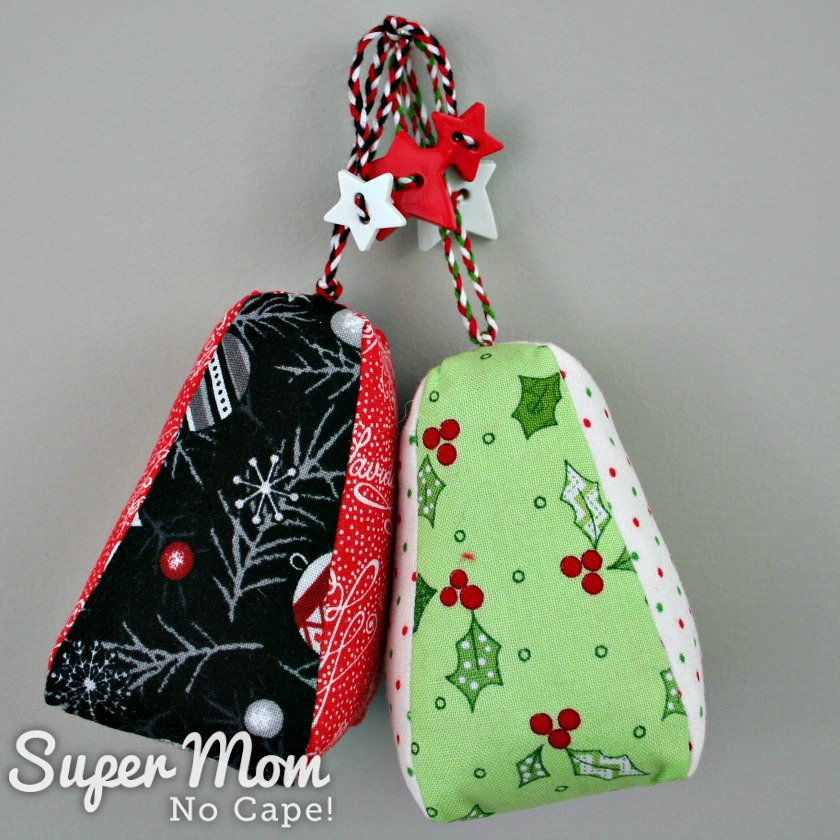Two finished Dresden Charm Ornament