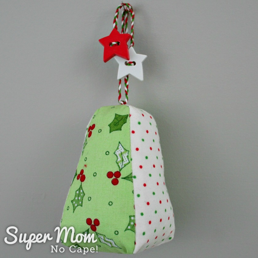 Green holly Dresden Charm Ornament