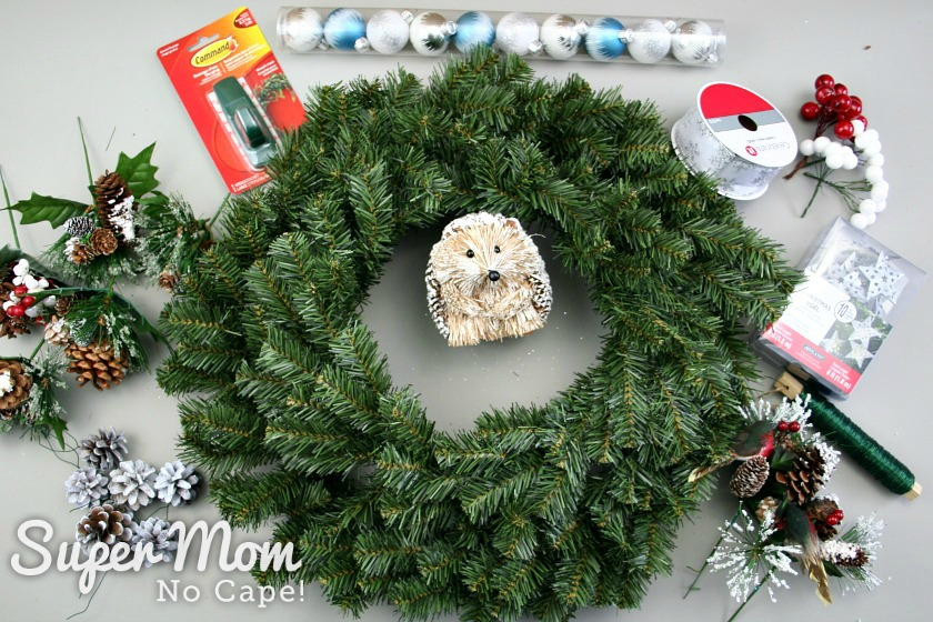 3 Items needed to make the DIY Wreath Kit