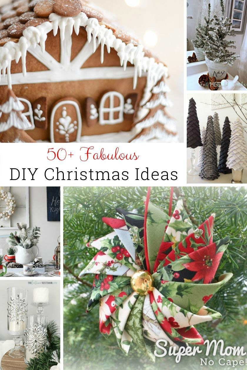 Collage image featuring some of the 50 most popular DIY Christmas projects