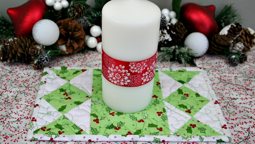 Quilted Hourglass Candle Mat Tutorial