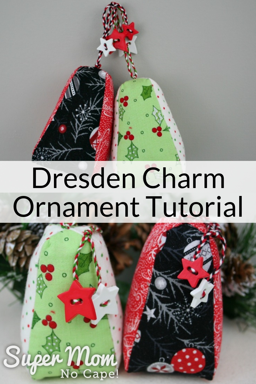 Collage photo of Dresden Charm Ornament Tutorial