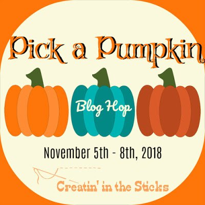 Image with 3 pumpkins for the Pick a Pumpkin Blog Hop