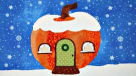 Pumpkin Gnome House Applique Pattern