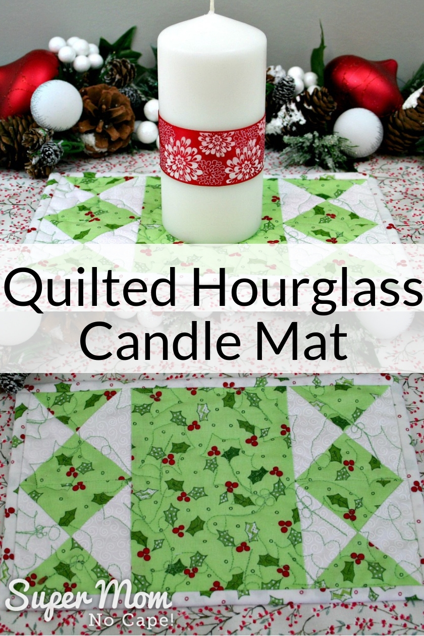Quilted Hourglass Candle Mat