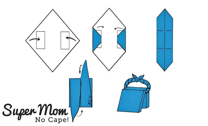How to wrap 2 books furoshiki style graphic