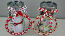 Two Mason Jar Embroidery Kits