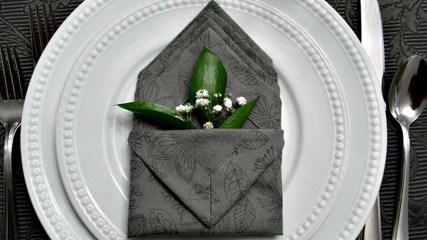 How to Sew Napkins with Mitered Corners