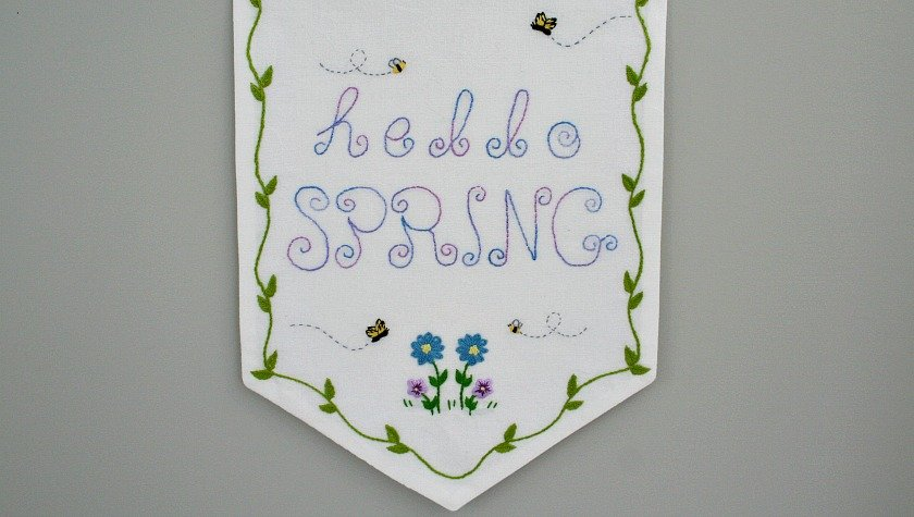 Hello Spring Embroidery Pattern