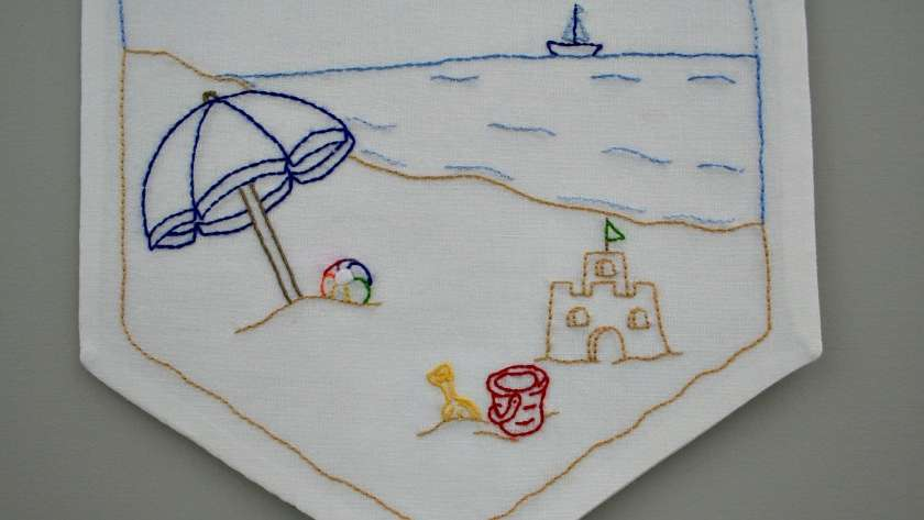 Summer Beach Days Embroidery Pattern