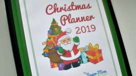 Close up photo of the Christmas Planner 2019 available to members of Handmade Homemade Holidays