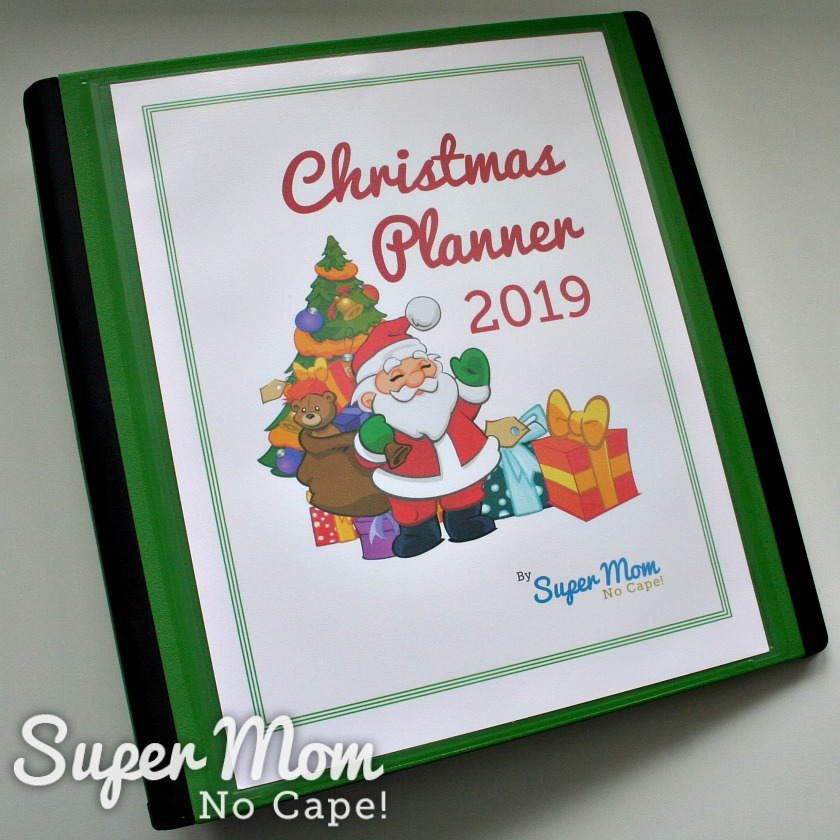 Photo of the Christmas Planner Binder with the digital Christmas Planner 2019 that members of Handmade Homemade Holidays receive.