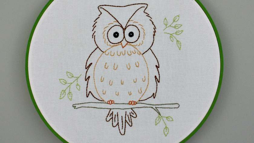 Owain Owl Embroidery Pattern