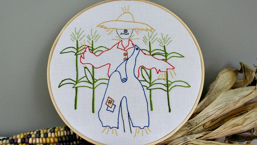 Strawbyn Scarecrow Embroidery Pattern