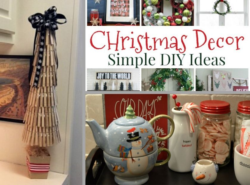 Collage photo of more DIY Holiday Decor
