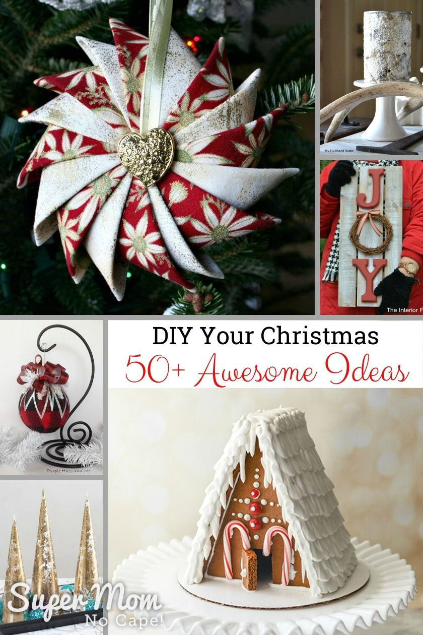 Collage of various DIY Christmas Projects