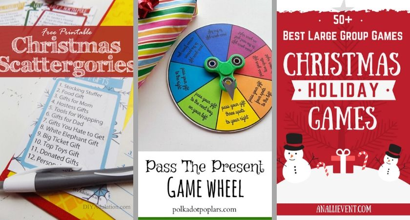 Three different games for Christmas Parties